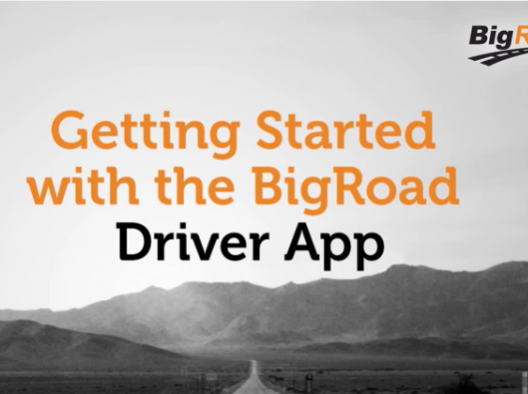 Getting Started - BigRoad Mobile App