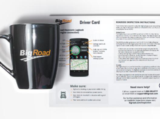 BigRoad Mobile App Driver Card