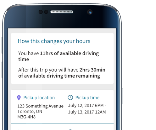 BigRoad Freight and BigRoad Mobile App Hours-of-Service Tracking