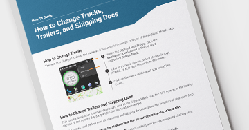 How-To Guide: Change Turck, Trailer, and Shipment