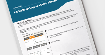 How to Edit Logs as a Safety Manager
