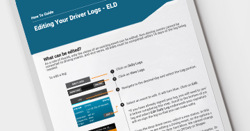 How to Edit Logs - For Drivers