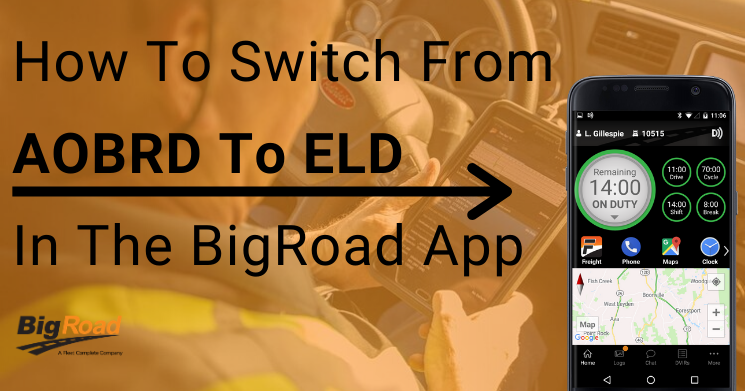 Switching from AOBRD to ELD in the BigRoad App