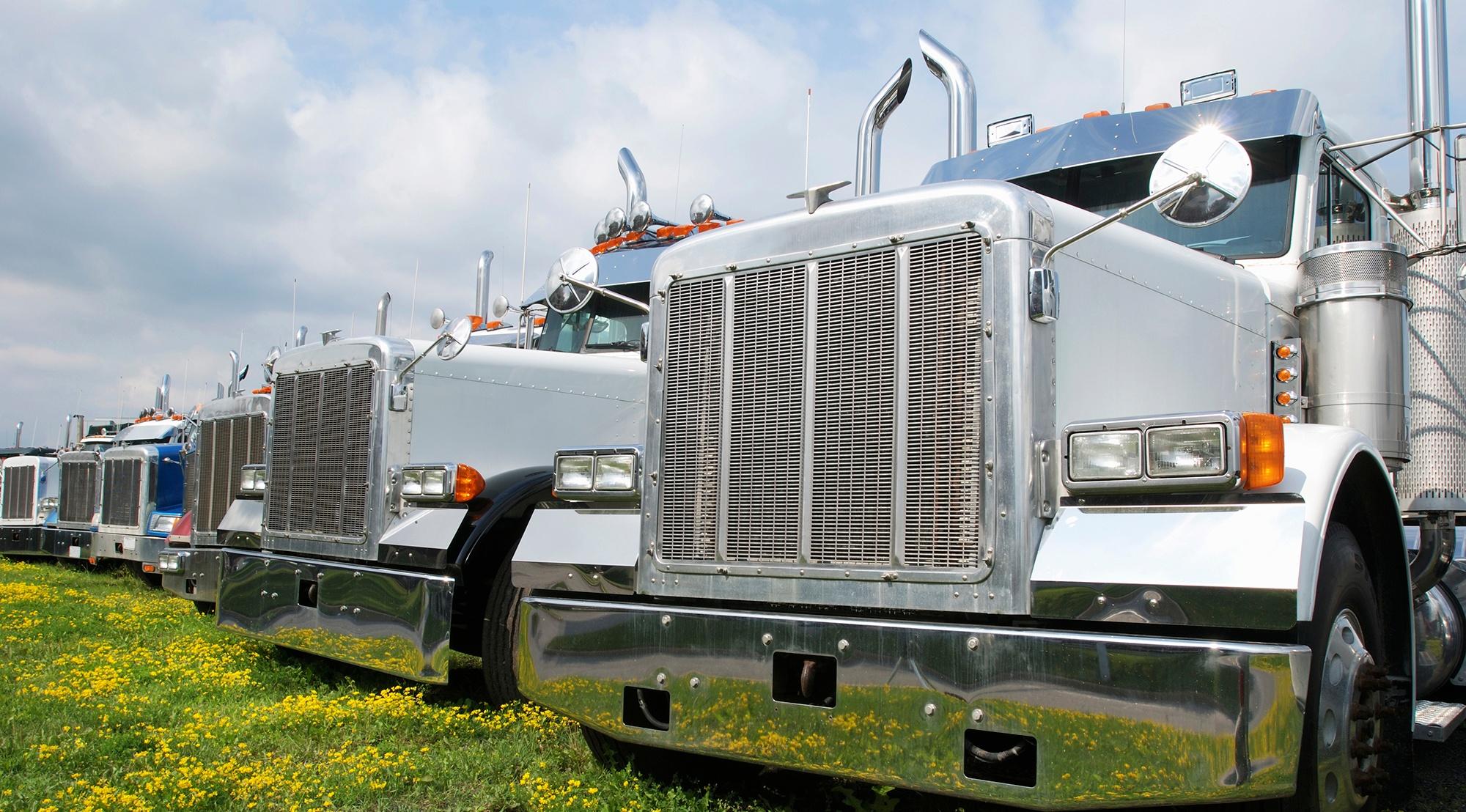 Bright shiny trucks