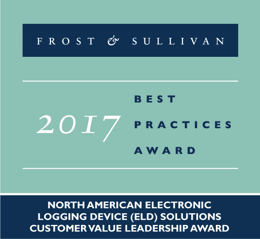 Frost & Sullivan Announces BigRoad Has Won the 2017 North American Electronic Logging Device (ELD) Customer Value Leadership Award
