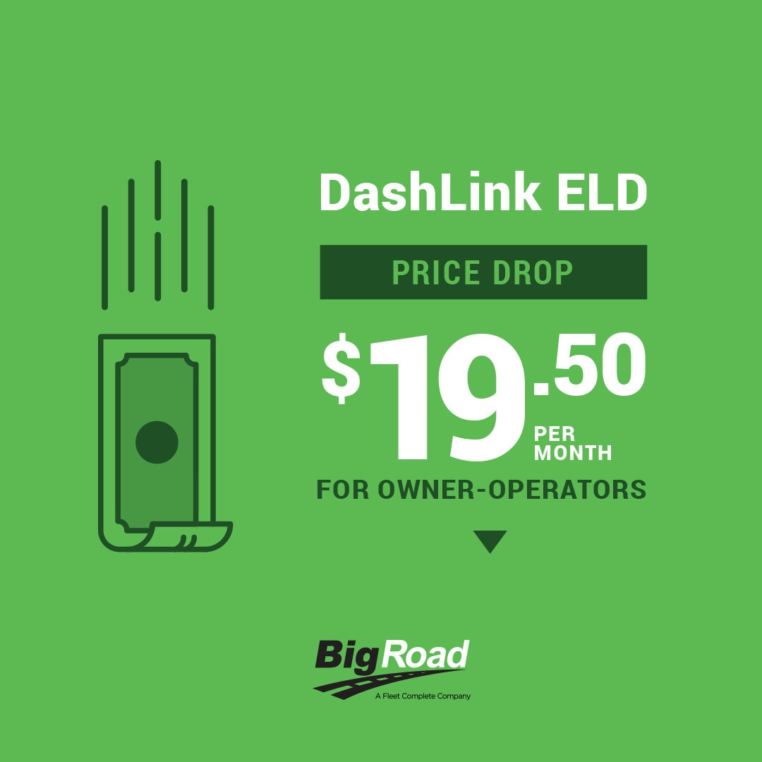 BigRoad DashLink ELD Price Drops for Owner-Ops