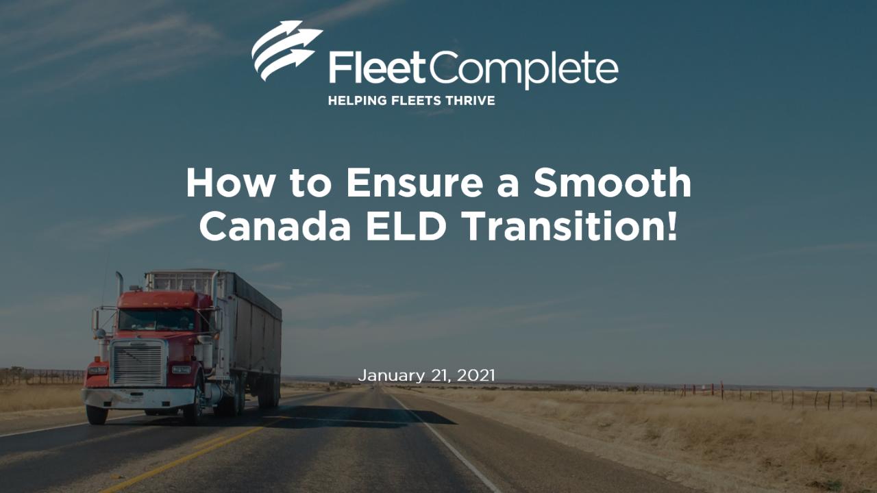 Webinar - Canada ELD Transition